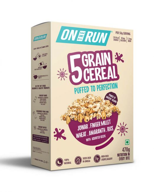 ontherun - 5 grain cereal - front