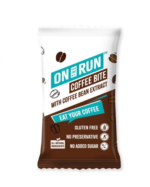 ontherun - coffee bites - front