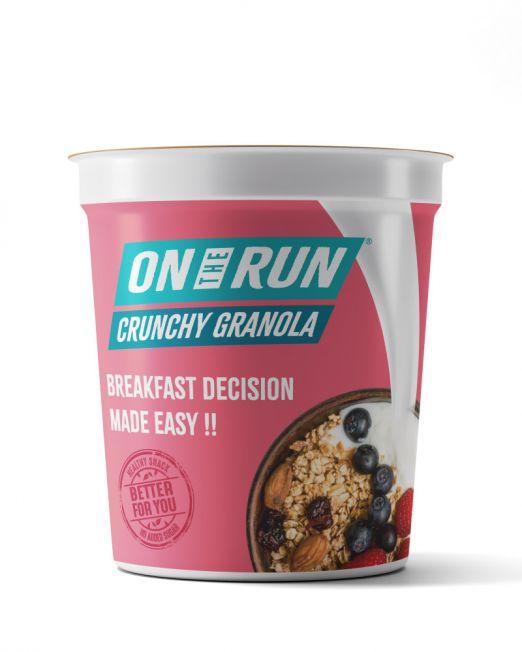ontherun - crunchy granola - front