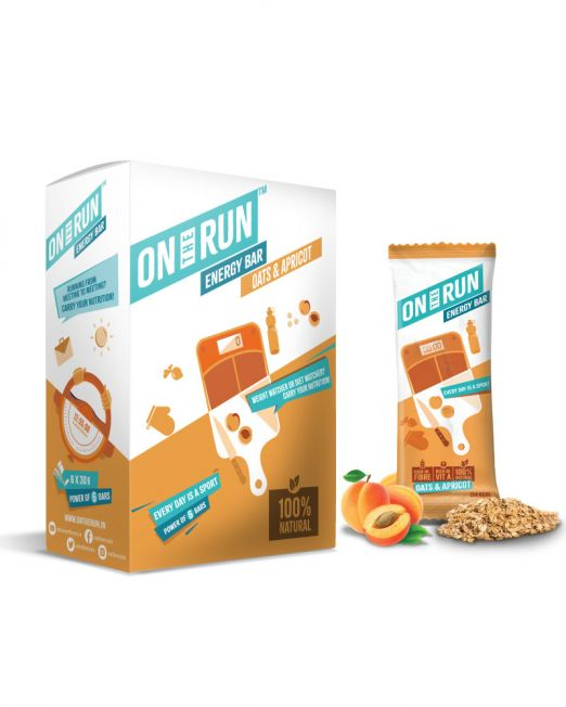 ontherun - oats apricot bar