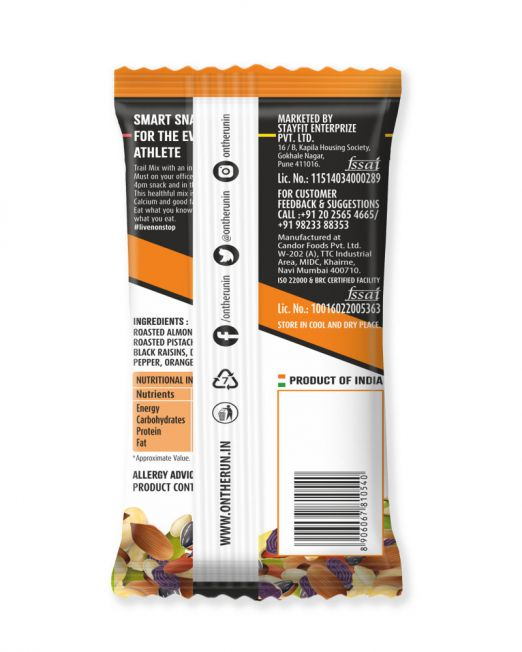 ontherun - trail mix orange pepper - back